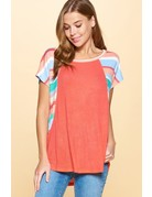 Hacci Knit Striped Tee