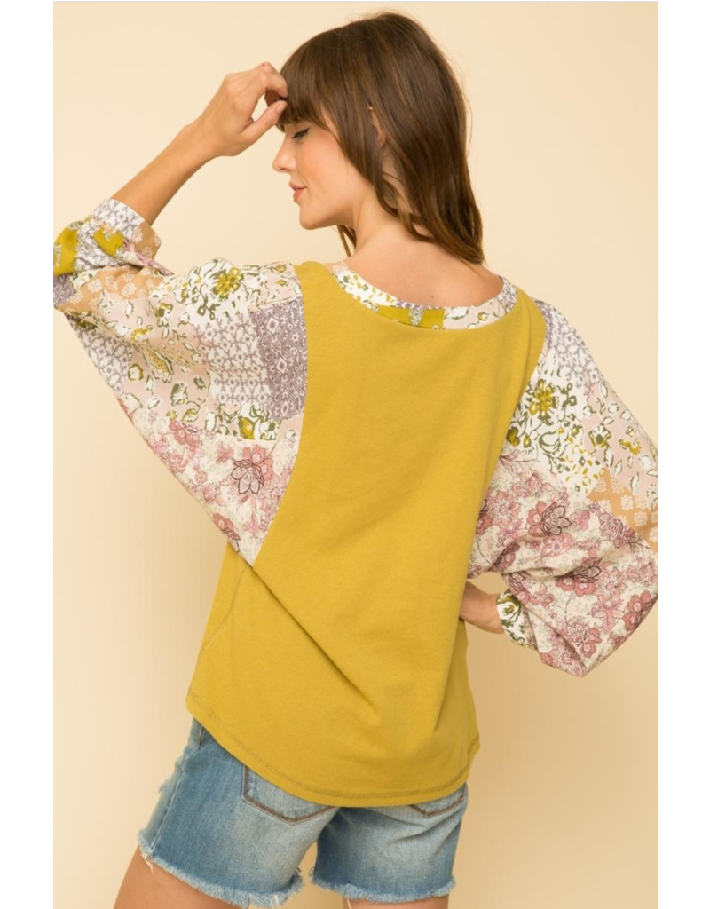 Dolman Sleeve Combo Top