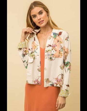 Floral Linen Jacket