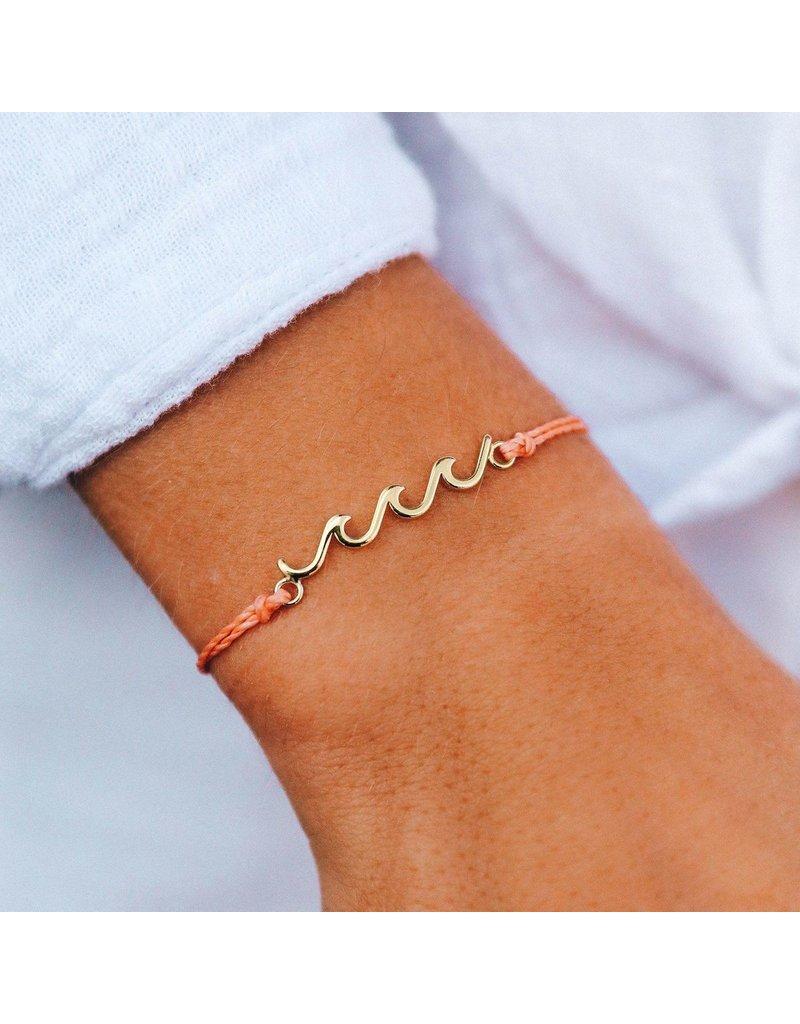 Gold Delicate Wave Bracelet