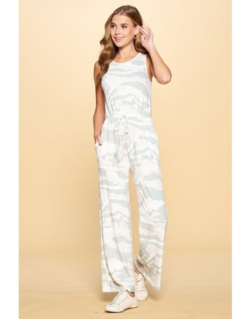 Jumpsuit with Keyhole Back
