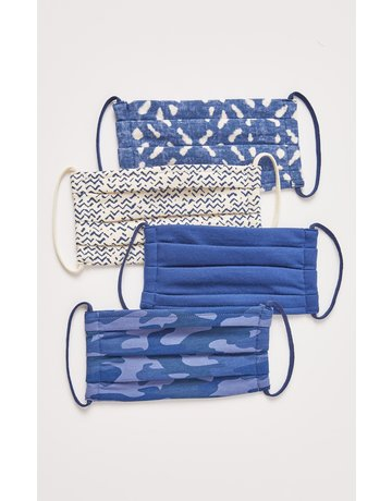 Blue Batik Mask 4-Pack