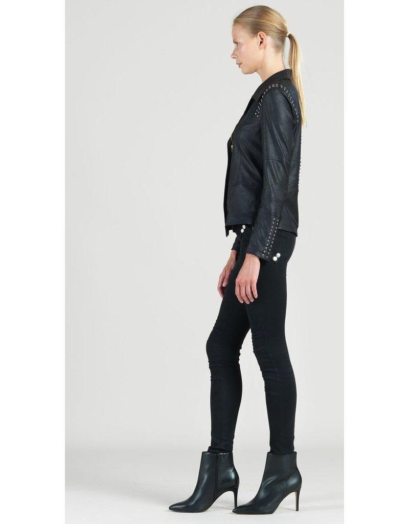 Studded Liquid Leather Jacket