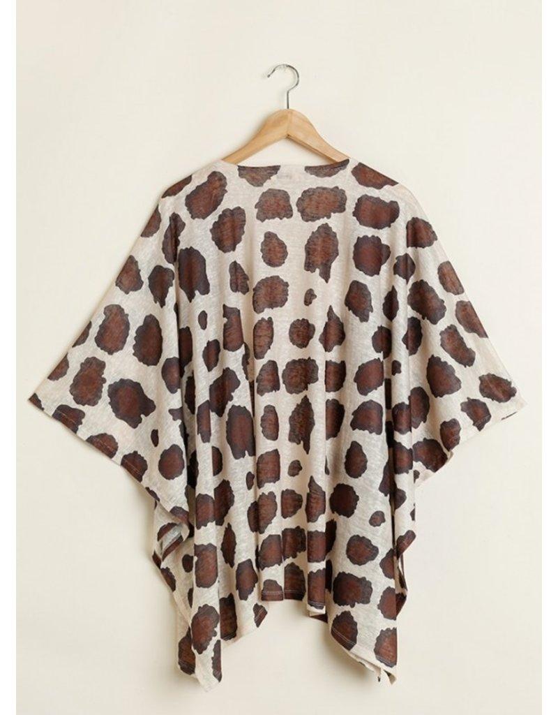 Umgee USA Animal Print Kimono
