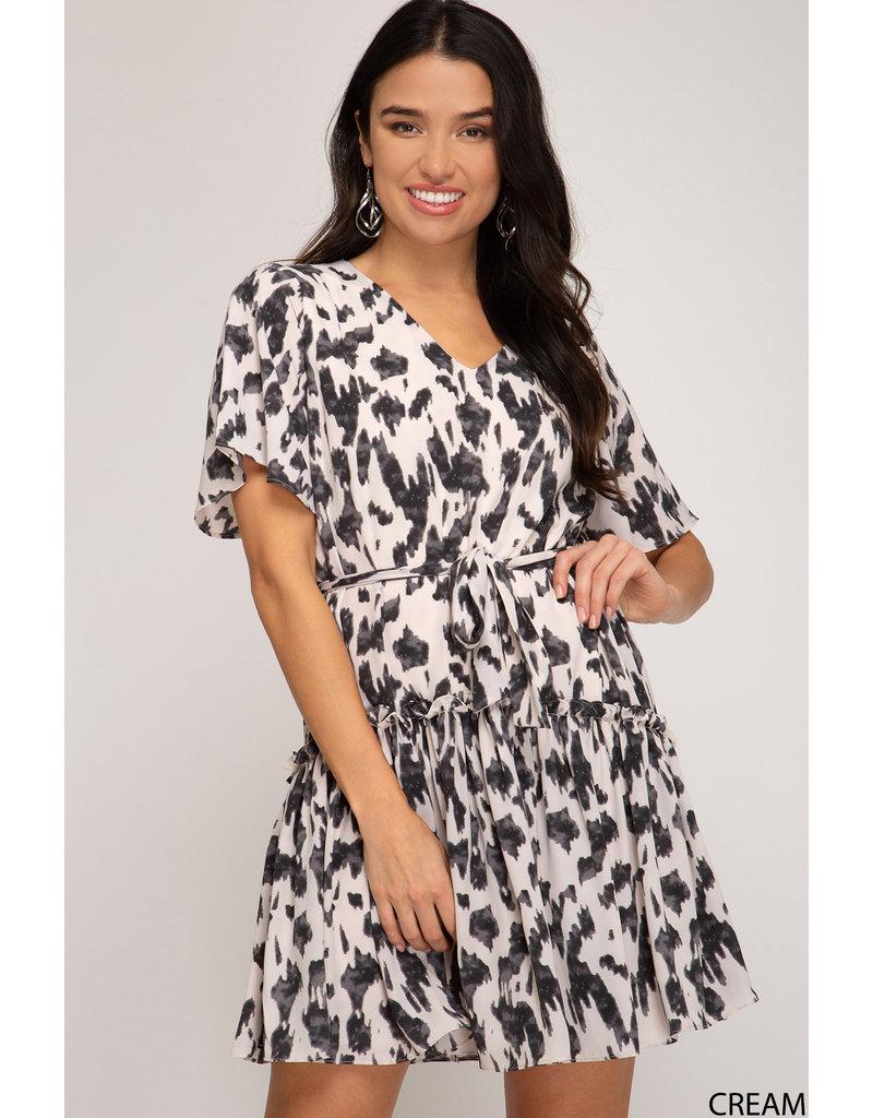 She & Sky Woven Flounce Dress