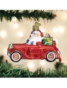 Santa in Antique Car