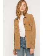 Acid Wash Terry Shirt Jacket