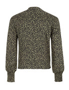 Cheetah Print Blouse w/Front Tie