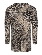 Leopard Cowl Neck Tunic