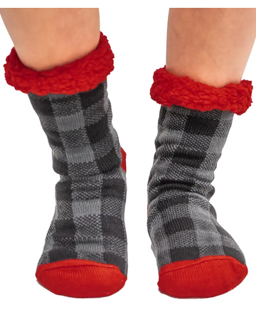 Plaid Plush Sock