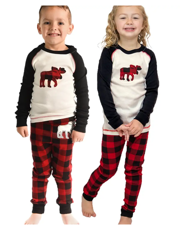 Moose Plaid PJ Set