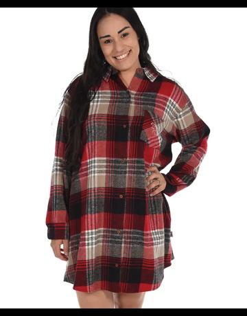Lazy One Country Plaid Flannel Nightshirt