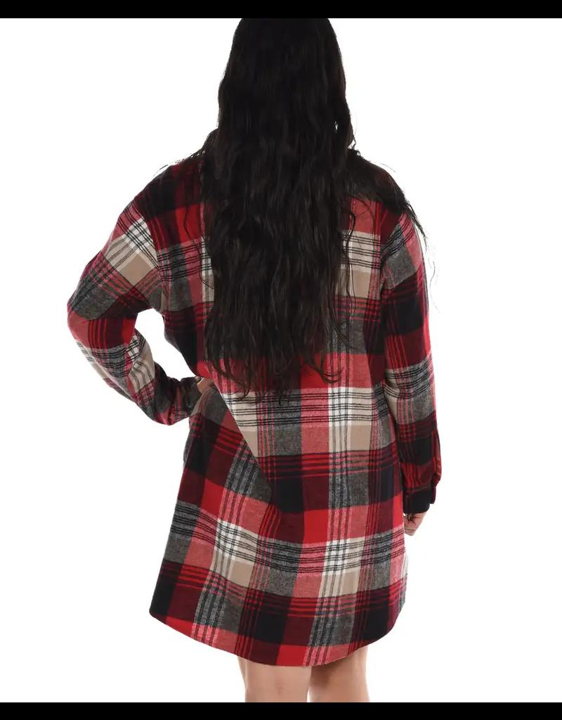 Country Plaid Flannel Nightshirt