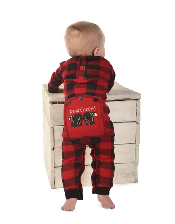 Plaid Bear Cheeks Infant Flapjack