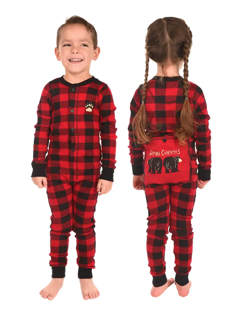 Plaid Bear Cheeks Kids Flapjack