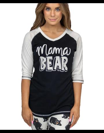 Lazy One Mama Bear PJ Tee
