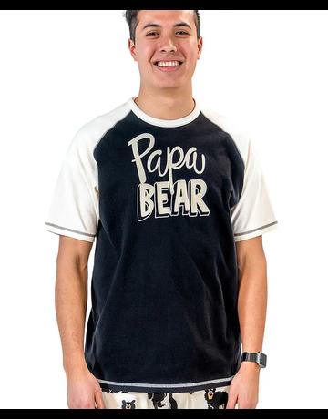 Lazy One Papa Bear PJ Tee