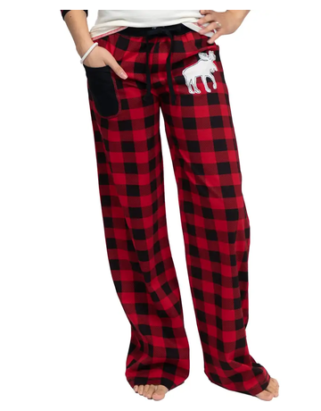 Moose Plaid Junior PJ Pants