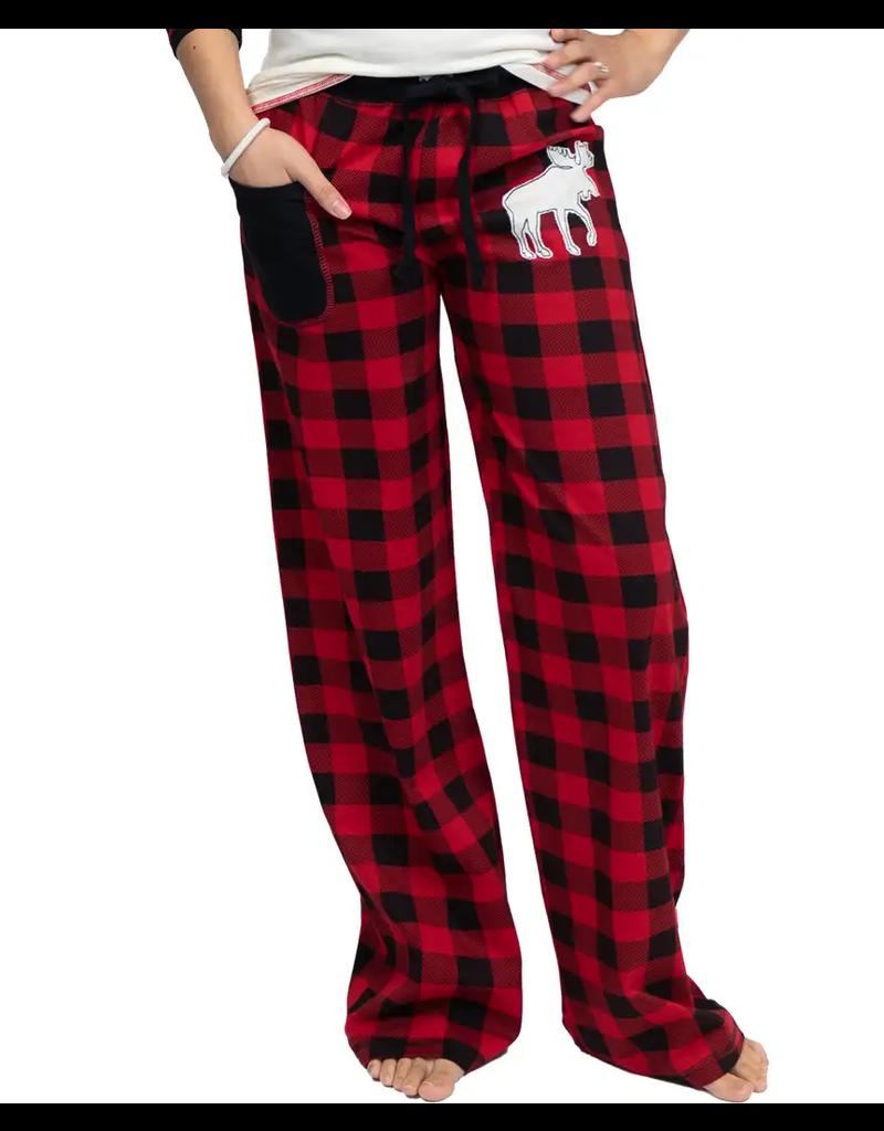 Moose Plaid Junior PJ Pants