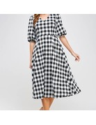 Check Midi Dress