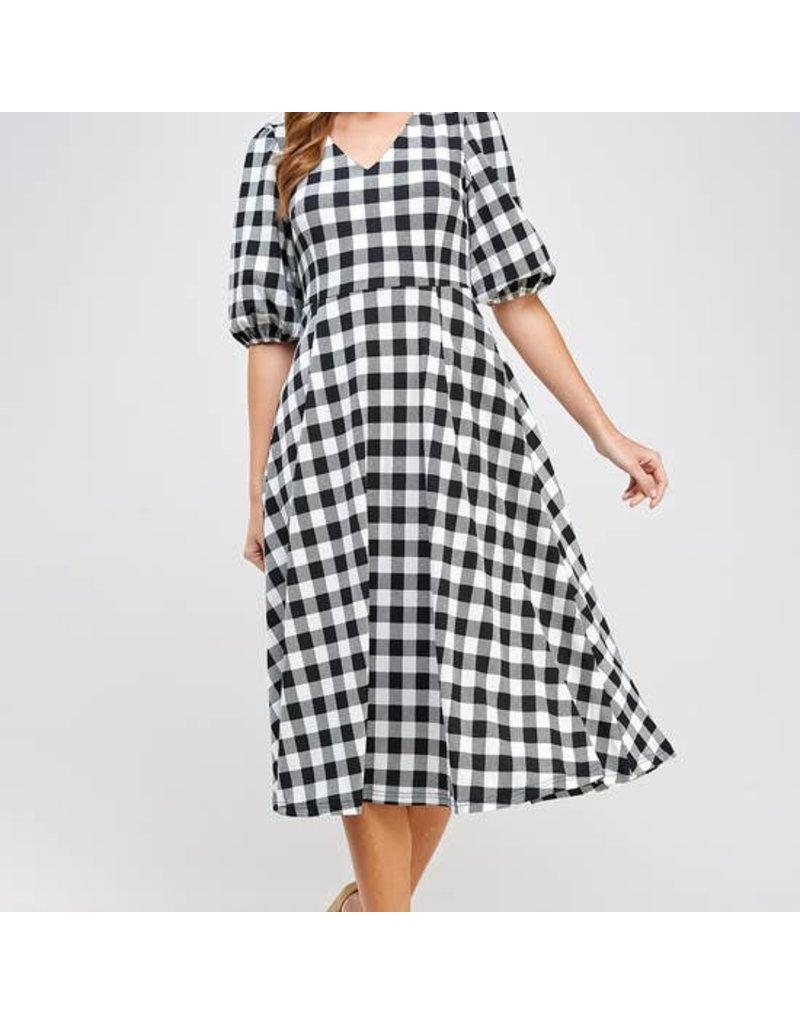 Ellison Check Midi Dress
