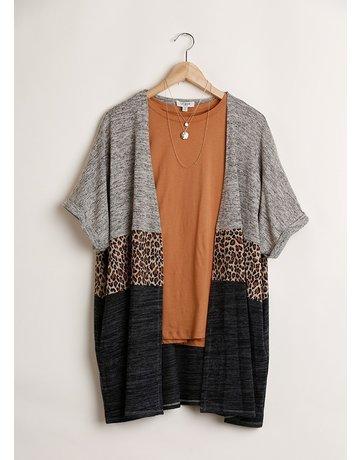 Animal Colorblock Kimono