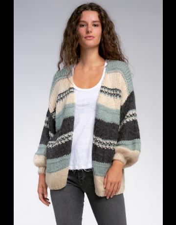 Saphire Stripe Sweater Cardigan