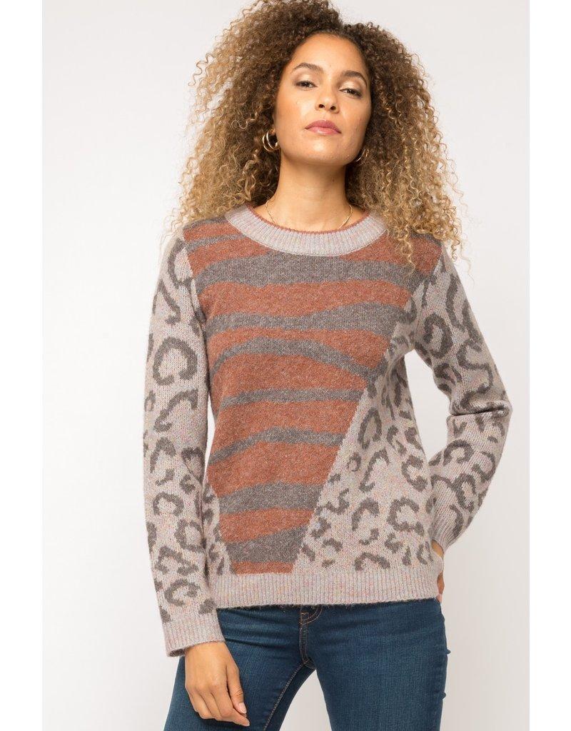 Animal Stripe Sweater