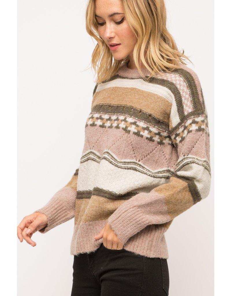 Mix Pattern Sweater