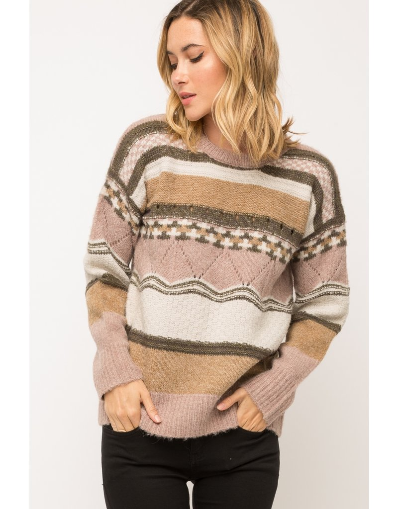 Mix Pattern Sweater