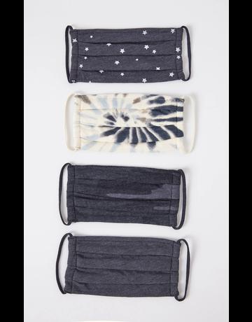 Tie-Dye Mask 4-Pack Dusty Navy