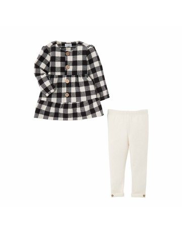 Black Check Tunic Legging 3T