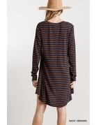 Umgee USA Striped Dress w/ Pockets