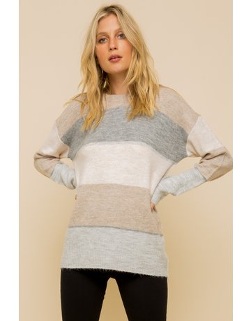 Soft Color Stripe Sweater