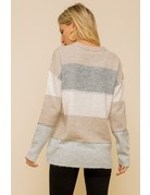 Soft Color Stripe Sweater