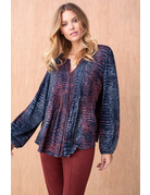 Tribal Sportswear Blouse w/Pleats