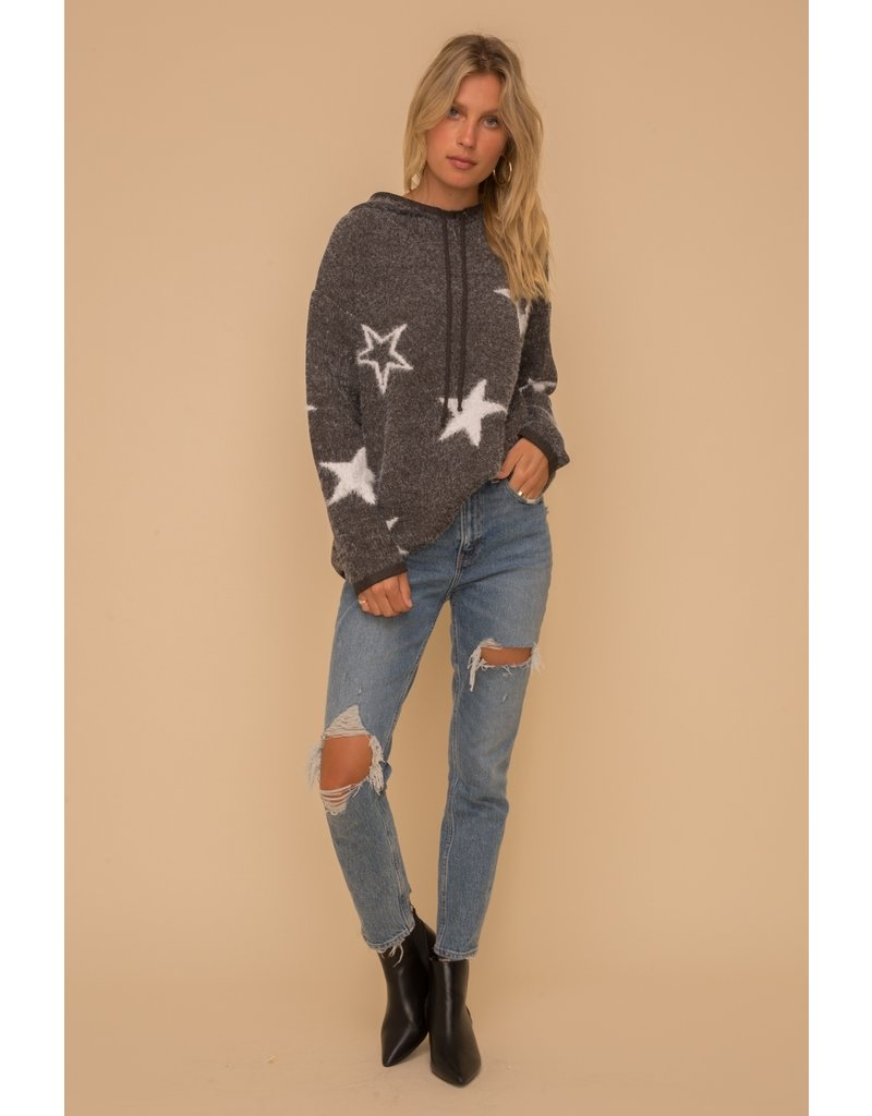 Hem & Thread Star Hoodie Cozy Sweater