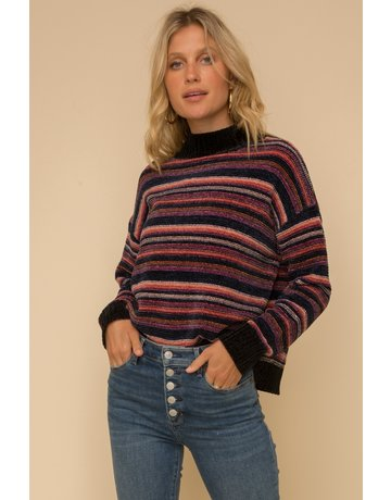 Multi Stripe Chenille Sweater