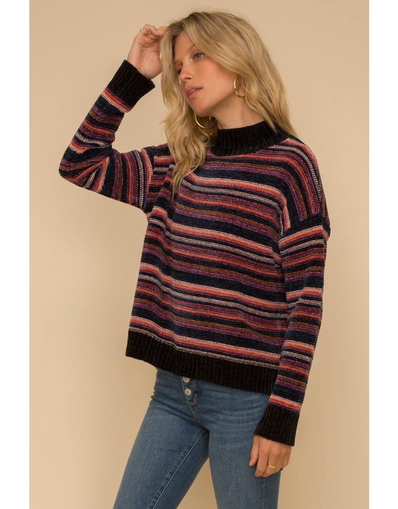 Multi Stripe Chenille Sweater