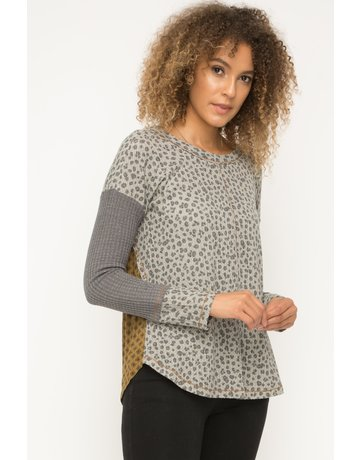 Mystree Animal Printed Top w/Thermal Back