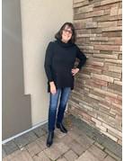Lulu-B Cowl Neck Grommets Sweater