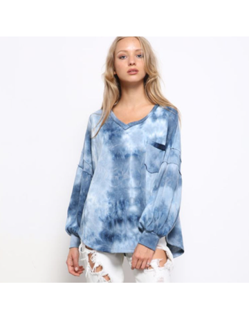 MittoShop Tie Dye French Terry Oversize Top