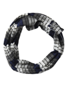 Tickled Pink Gray Striped Infinity Navy/White