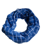 Tickled Pink Lightweight Plaid Infinity Royal/White