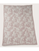 Barefoot Dreams CozyChic Camo Baby Blanket Dusty Rose