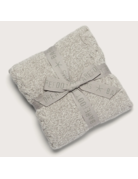 Barefoot Dreams CozyChic Heathered Cable Blanket Dove Grey