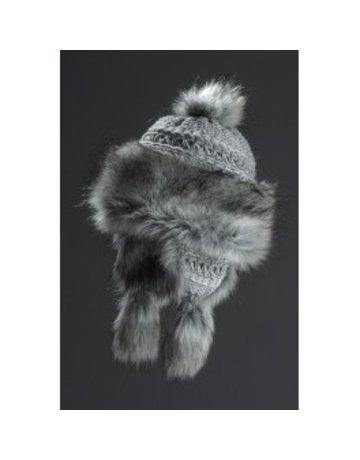 Village House Bayka Style Hat Silver Fur