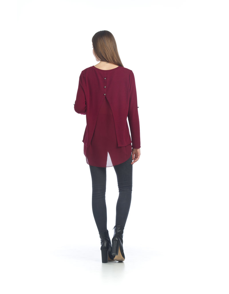 Papillon Layered Tunic w/Georgette Open Back