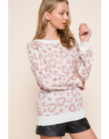 MittoShop Super Soft Leopard Sweater
