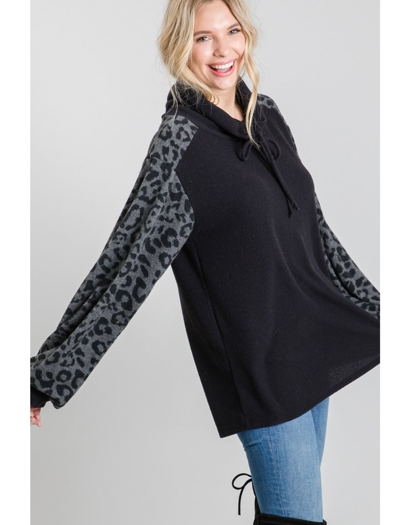 Brushed Cowl Neck Pullover